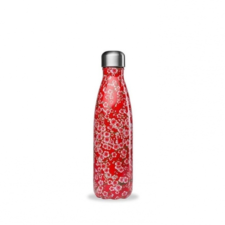 Qwetch Isolerad Flaska i Rostfritt Stål Flowers Red 500 ml