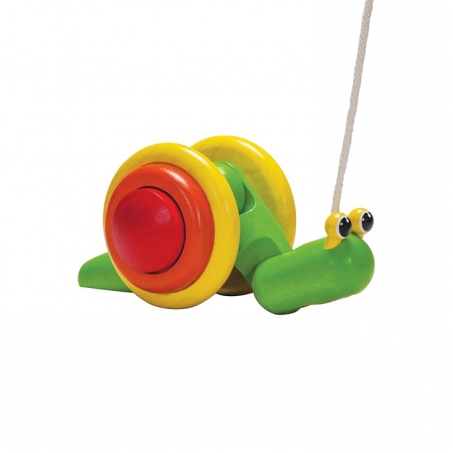 PlanToys Dragleksak Snigel Pull-Along Snail